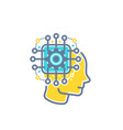 machine learning artificial neural network ai vector image vector image