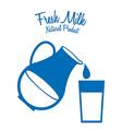 milk fresh vector image vector image