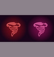 neon icon of red and pink tornado vector image