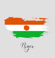 niger watercolor national country flag icon vector image