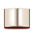 Opened book isolated on white vector image vector image