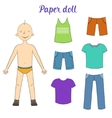 Paper doll boy and clothes
