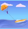 parasailing concept banner cartoon style vector image