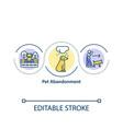 pet abandonment concept icon vector image