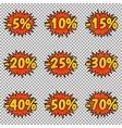 Pop art discount labels vector image vector image