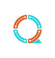 q technology logo vector image