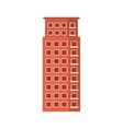 Red apartment building line sticker vector image vector image