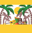 reggae music beach party vector image vector image