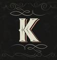 retro style western letter design letter k vector image vector image