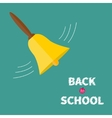 ringing gold bell with handle back to school chalk