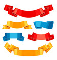 set of colored ribbons and banners vector image