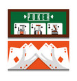 set of different playing cards combination royal vector image vector image