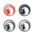 set of eagle head logo design sign icon vector image vector image