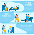 set of psychotherapy and vector image