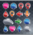set of the different icons vector image