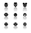 Smiles emoticon icons set vector image