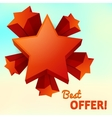 stars isolated best offer vector image vector image