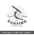 surfing label vector image vector image