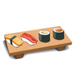 Sushi set vector image vector image