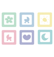 Sweet icons with polka dots isolated on white vector image vector image