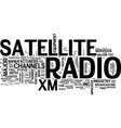 the development of satellite radio in the united vector image vector image