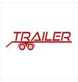 trailer vector image vector image