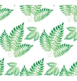 Watercolor green leaf pattern vector image vector image
