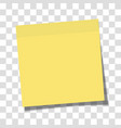 yellow paper sticky note glued to surface vector image vector image