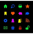 Colored pixel icons set for website vector image