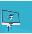 flat of Internet security vector image