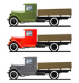 retro lorry isolated vector image