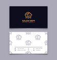 private community business card house icon home vector image