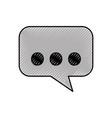 speak bubble message dialog chat communication vector image