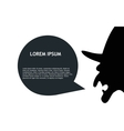 Witch riding broomstick with speech bubble vector image