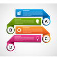Abstract options infographics template Design vector image vector image