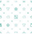 account icons pattern seamless white background vector image vector image