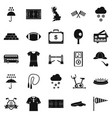 athletic behavior icons set simple style vector image vector image