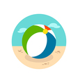 Beach Ball icon Summer Vacation vector image