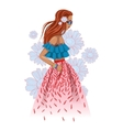 Beautiful fashion hippie girl vector image