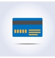 Blue color credit card icon vector image