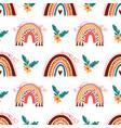 boho rainbow pattern doodle rainbow background vector image