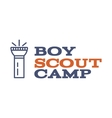 Boy scout camp logo design with typography and vector image vector image