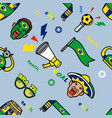brazil soccer supporter gear seamless pattern vector image