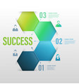 business concept up to success number vector image vector image