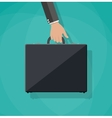 Businessman holding bag vector image