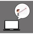 businessman oil technology economic graph vector image