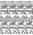 cakes and cupcakes black and white seamless vector image vector image