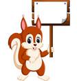 cartoon funny squirrel vector image vector image