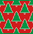 christmas tree seamless pattern in red and green vector image vector image