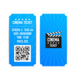 cinema tickets isolated on white background vector image vector image